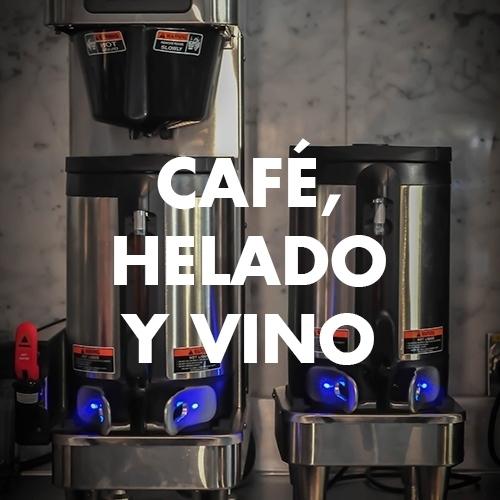 Café, helado y vino - Inoxcuina